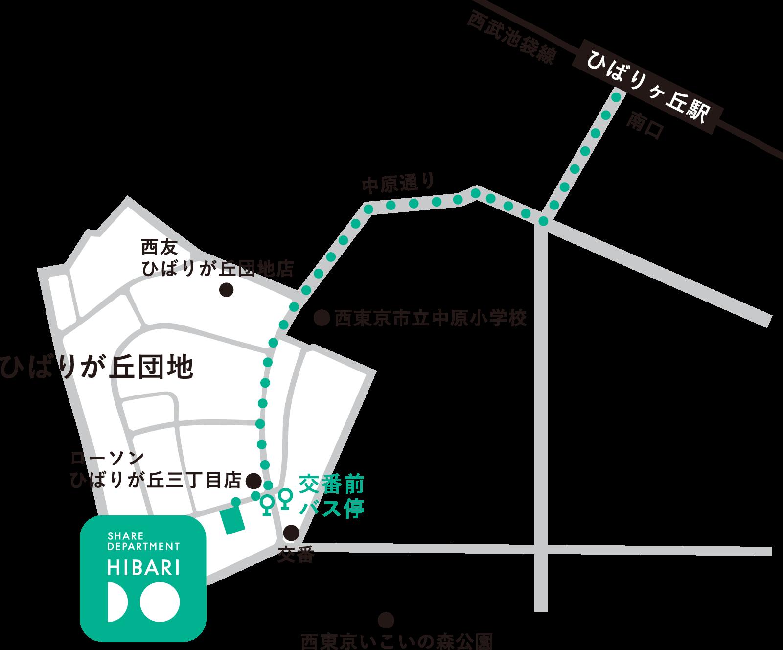 HIBARIDOレイアウト図